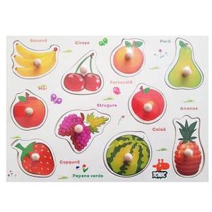 puzzle incastru din lemn fructele