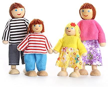 set 6 papusi din lemn familia puppet 3