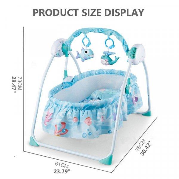 balansoar bebelusi cu telecomanda si sunete 4