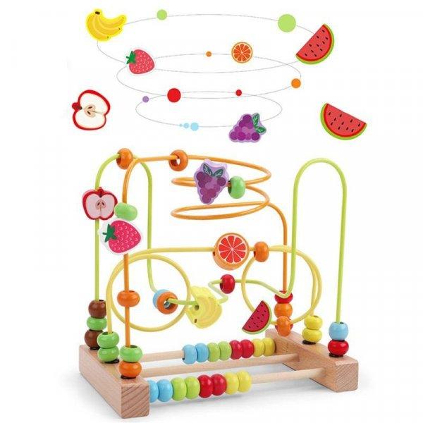 labirint montessori fructe si animalute 4