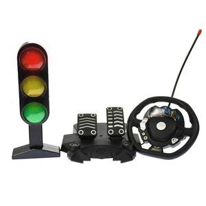 masinuta de jucarie cu volan pedale si semafor 4