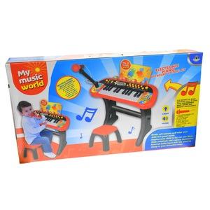 orga de jucarie cu scaunel si microfon pentru copii 2