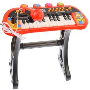 orga de jucarie cu scaunel si microfon pentru copii 3