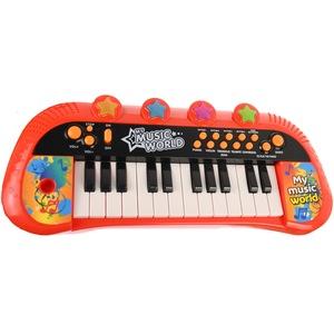 orga de jucarie cu scaunel si microfon pentru copii 4