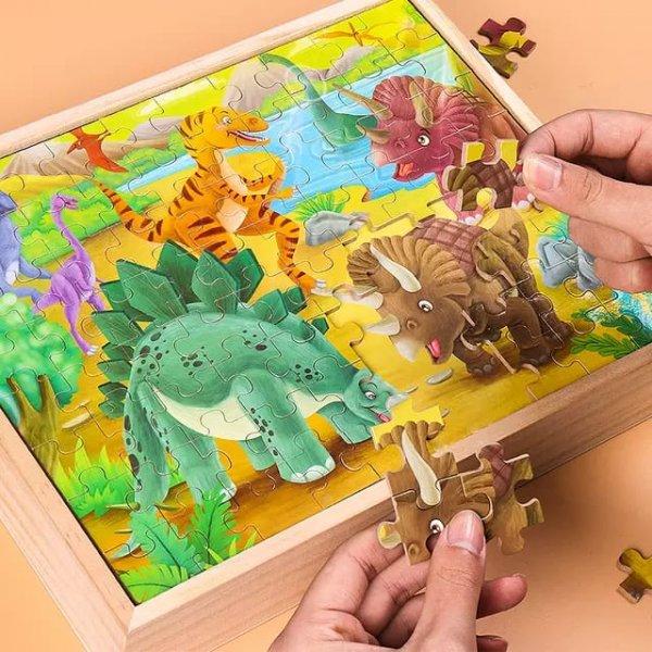 puzzle 4in10din lemn