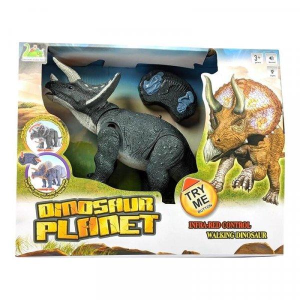 robot dinozaur triceratops cu telecomanda 4