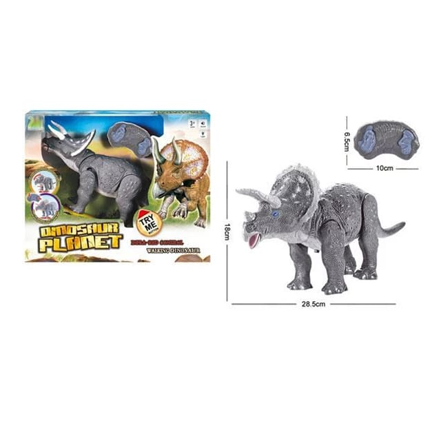 robot dinozaur triceratops cu telecomanda 9