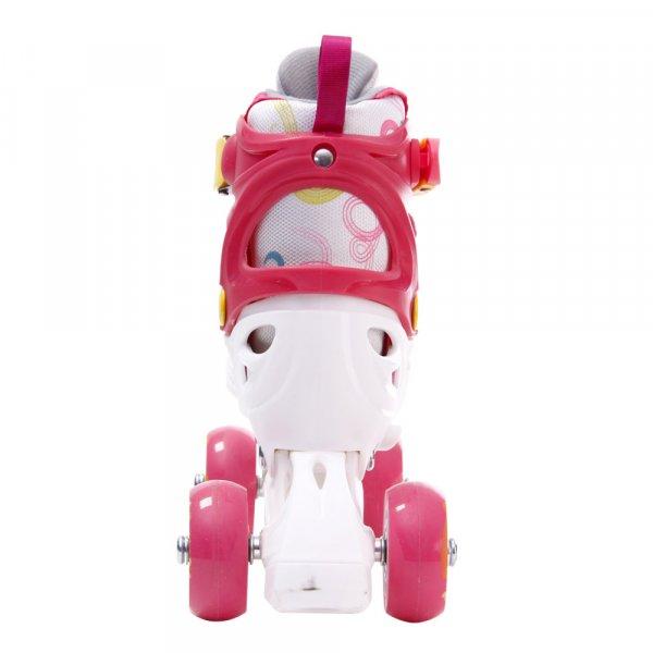 role reglabile copii cu pozitionare multipla a rotilor roz 1
