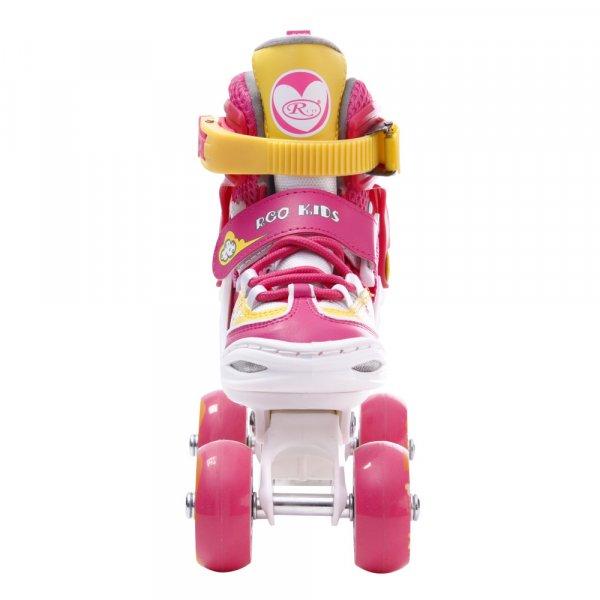 role reglabile copii cu pozitionare multipla a rotilor roz