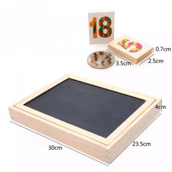 tablita multifunctionala din lemn cu litere cifre ilustratii 3