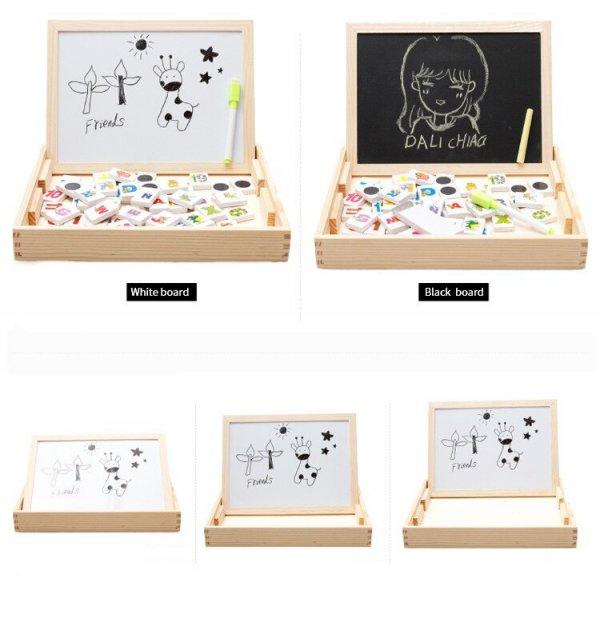tablita multifunctionala din lemn cu litere cifre ilustratii 4