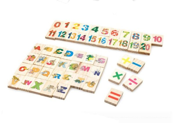 tablita multifunctionala din lemn cu litere cifre ilustratii 6