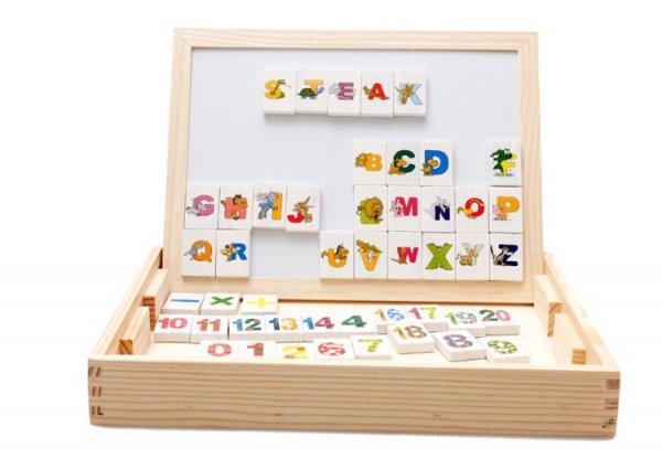tablita multifunctionala din lemn cu litere cifre ilustratii 7