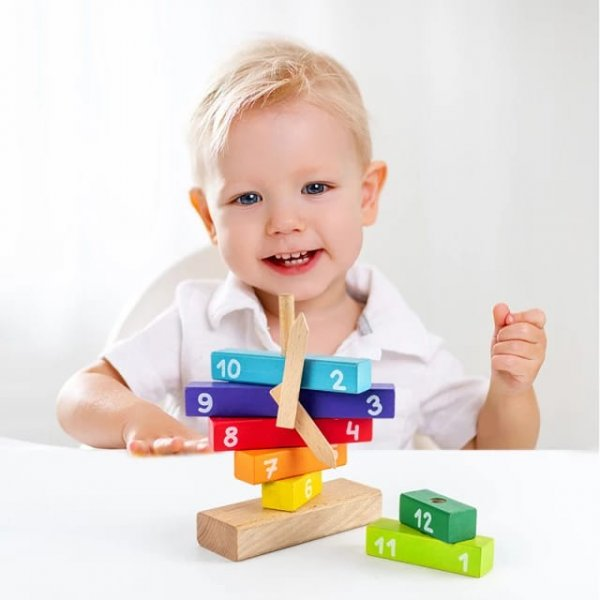 joc de stivuit din lemn invata ceasul 3
