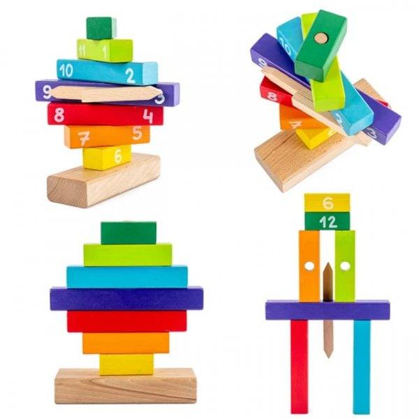joc de stivuit din lemn invata ceasul 6