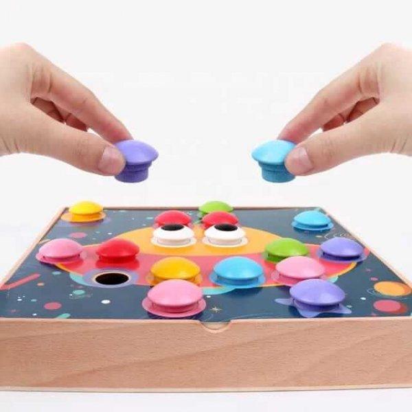 joc educativ mozaic din lemn 14