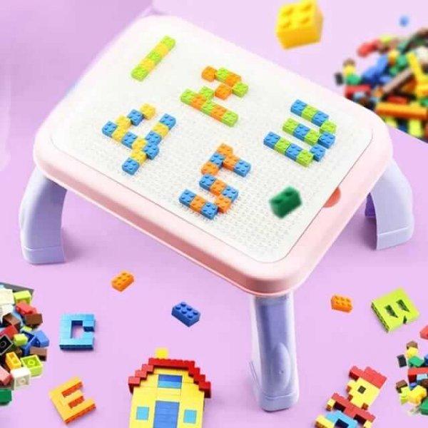 masuta educativa 3in1 cu 150 cuburi 2