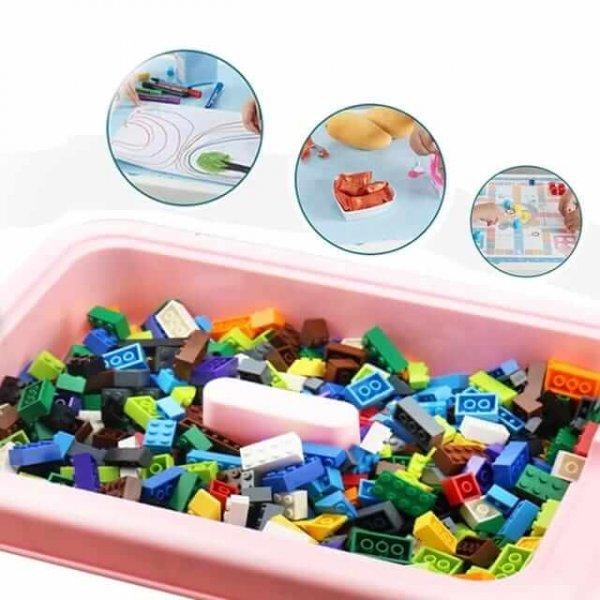 masuta educativa 3in1 cu 150 cuburi 5