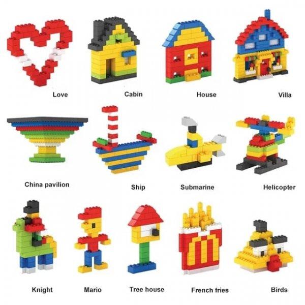 masuta educativa 3in1 cu 150 cuburi 6