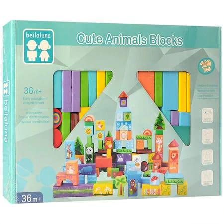 set 100 cuburi de construit padurea si animalele ei 1