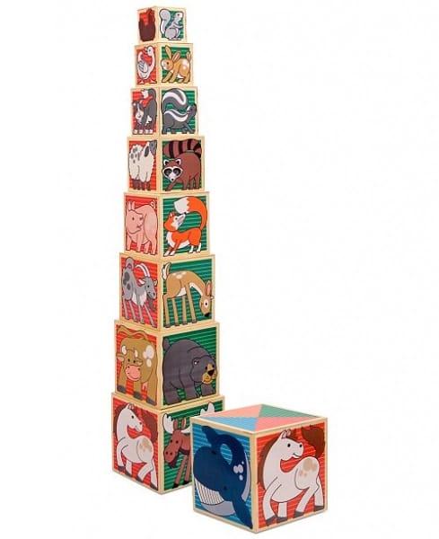 set 8 cuburi de stivuit din lemn 6