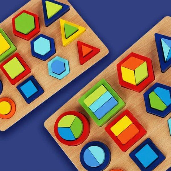 sortator montessori cu forme geometrice 1