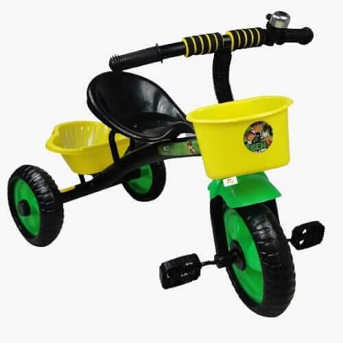 tricicleta cu pedale pentru copii ben ten negru