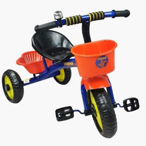 tricicleta cu pedale pentru copii spiderman