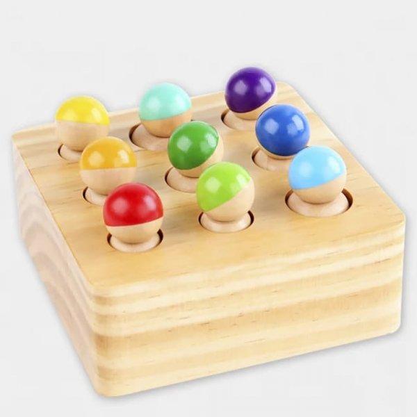 joc montessori din lemn cei 9 prieteni 1
