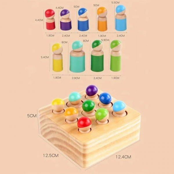 joc montessori din lemn cei 9 prieteni 5
