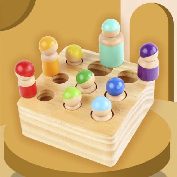 joc montessori din lemn cei 9 prieteni 6