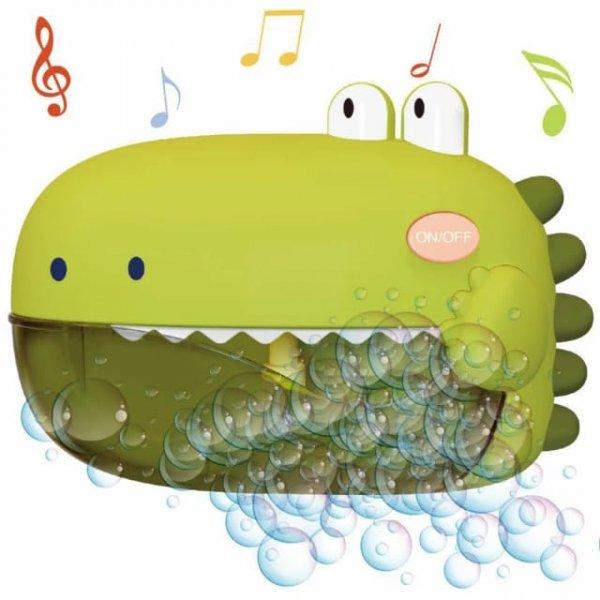 jucarie de baie cu difuzor de spuma si muzica dinozaur