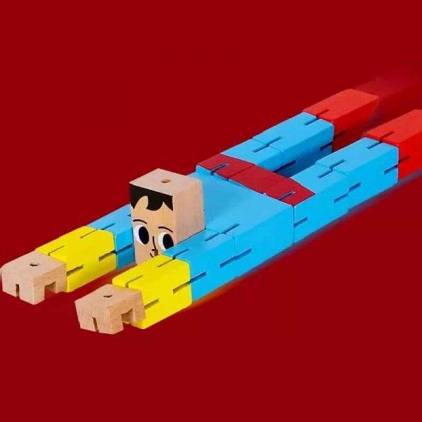 cub rubic din lemn super erou 1