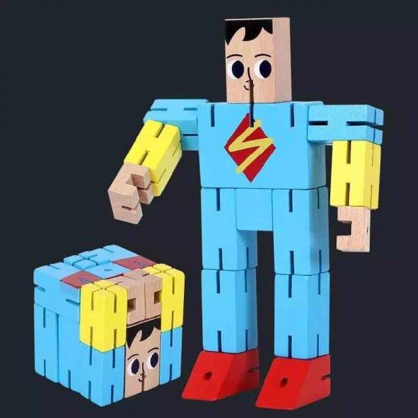 cub rubic din lemn super erou 2