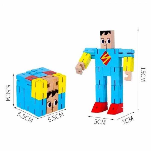 cub rubic din lemn super erou 3
