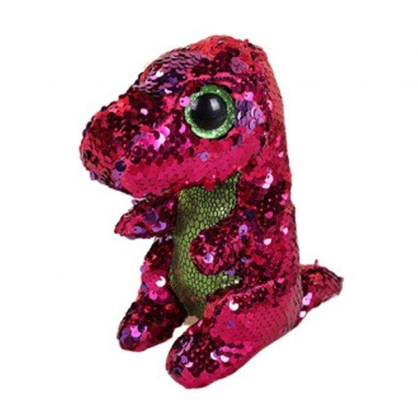dinozaur de jucarie cu paiete