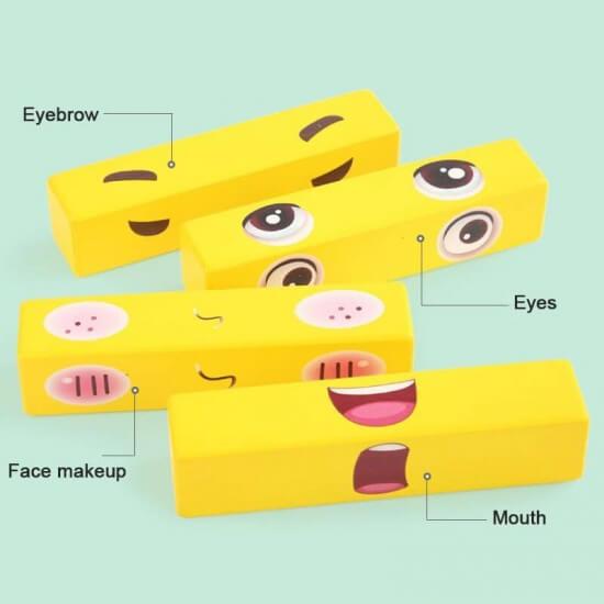 joc distractiv din lemn expresii faciale 1