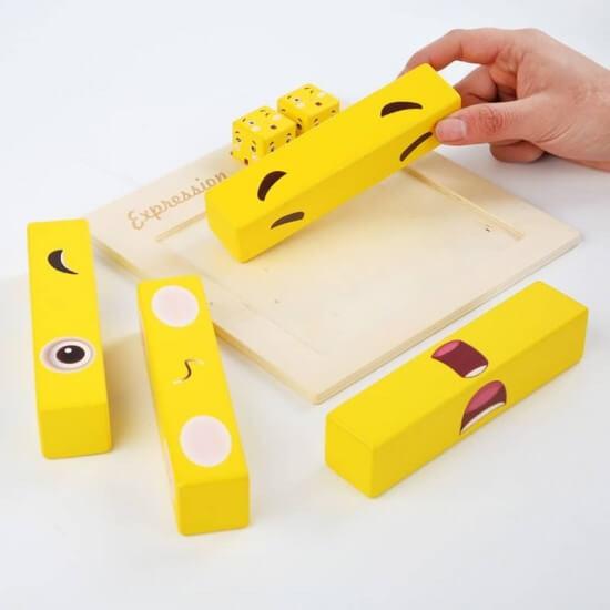 joc distractiv din lemn expresii faciale 3