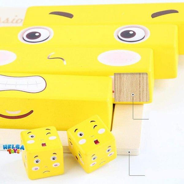 joc distractiv din lemn expresii faciale