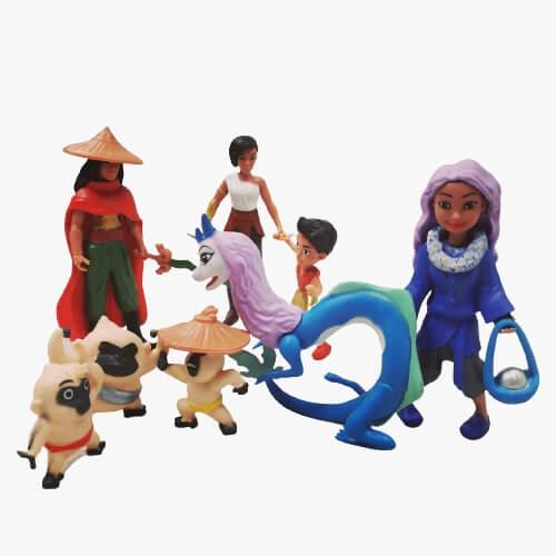 set 8 figurine raya
