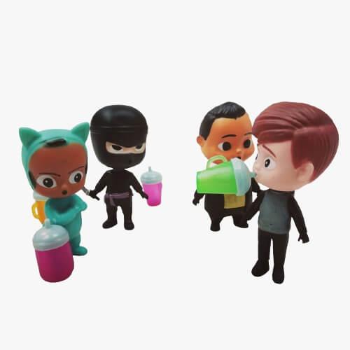 set 4 figurine din plastic baby boss 6