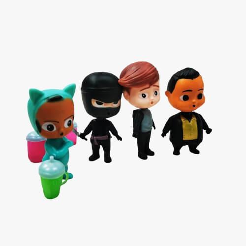 set 4 figurine din plastic baby boss
