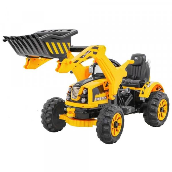 tractor electric pentru copii galben