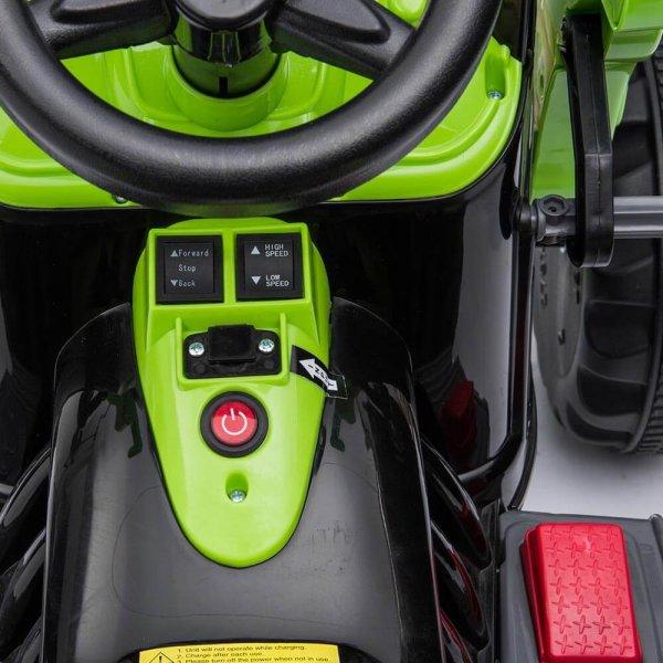 tractor electric pentru copii verde 1