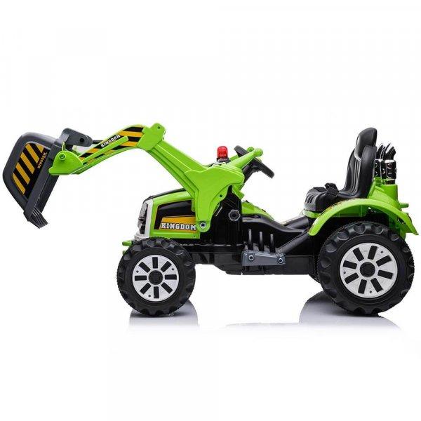 tractor electric pentru copii verde 2