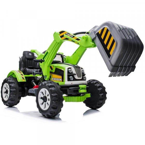 tractor electric pentru copii verde 3