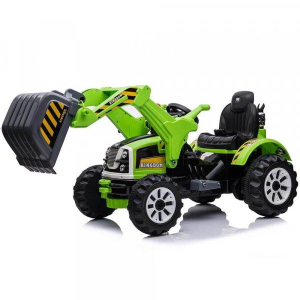 tractor electric pentru copii verde 4