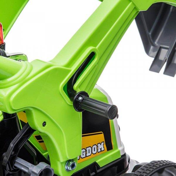 tractor electric pentru copii verde 5