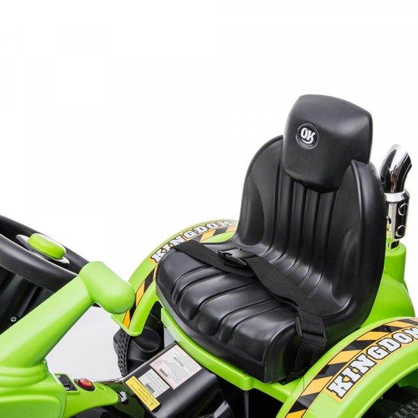 tractor electric pentru copii verde 6