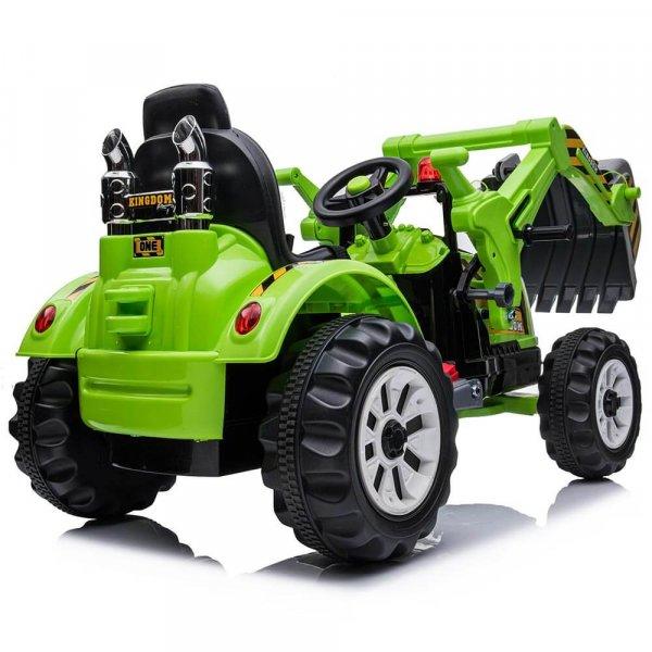 tractor electric pentru copii verde